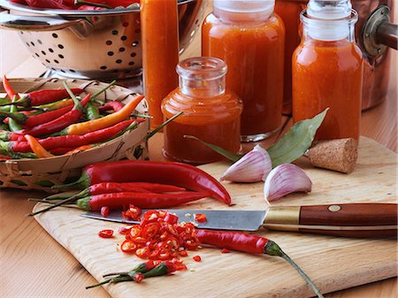 Making chilli sauce Stock Photo - Rights-Managed, Code: 824-07194258