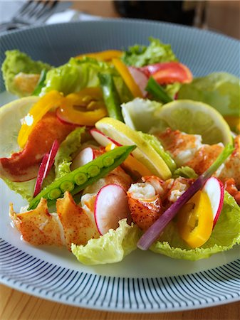 Lobster salad Stock Photo - Rights-Managed, Code: 824-07193298