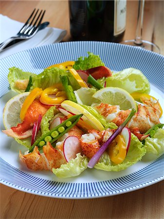 Lobster salad Stock Photo - Rights-Managed, Code: 824-07193299