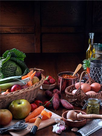 Assorted food - Still life Stock Photo - Rights-Managed, Code: 824-07193794