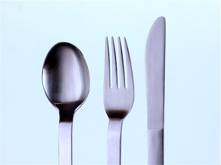 Knife fork and spoon Stock Photo - Rights-Managed, Code: 824-07193911