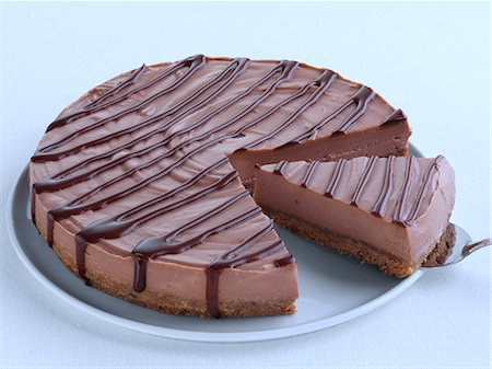 self indulgence - Chocolate orange cheesecake Stock Photo - Rights-Managed, Code: 824-07586049