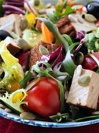 Smoked tofu salad Stock Photo - Rights-Managed, Code: 824-07586094