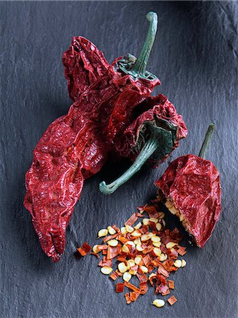 slate - Smoked chilli chipotles Stock Photo - Rights-Managed, Code: 824-07586136