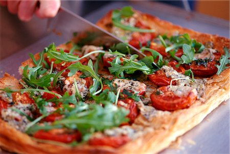 puff - Tomato, Blue Cheese and Rocket Tart Stock Photo - Rights-Managed, Code: 824-02625285