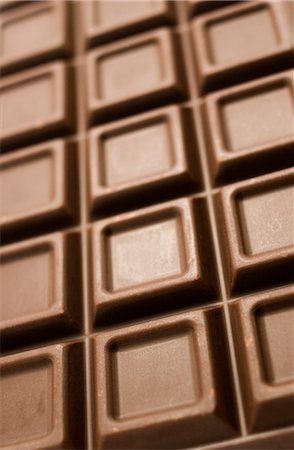 Milk Chocolate on a plain white background. Stock Photo - Rights-Managed, Code: 824-02887817