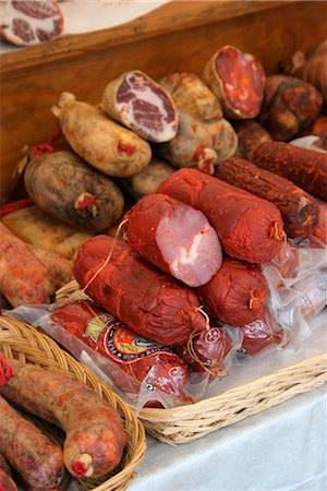 Butcher stall  at market Stock Photo - Rights-Managed, Code: 824-02888729