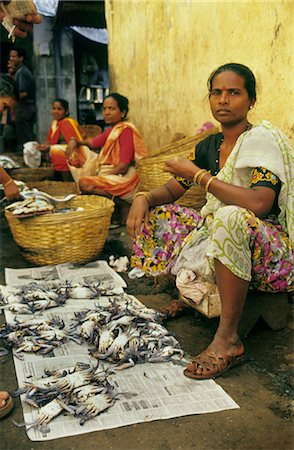 Women selling Crabs  Goa, India. Stock Photo - Rights-Managed, Code: 824-02890198