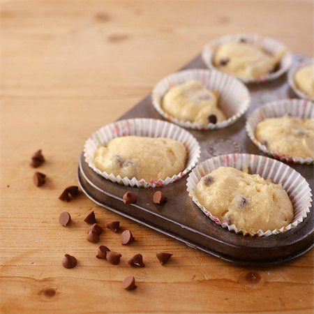 sweet   no people - Raw Muffin Mix Stock Photo - Rights-Managed, Code: 824-03722577