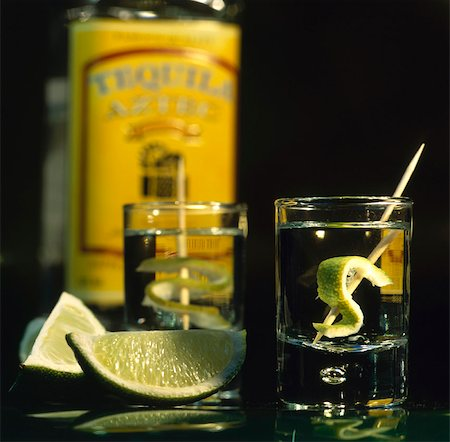 Tequila with Lime Stock Photo - Rights-Managed, Code: 824-03722939