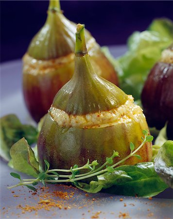 Figs stuffed with fresh goat's cheese Stock Photo - Rights-Managed, Code: 825-05814818