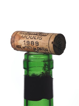 Cork on the top of a wine bottle Stock Photo - Rights-Managed, Code: 825-05835687