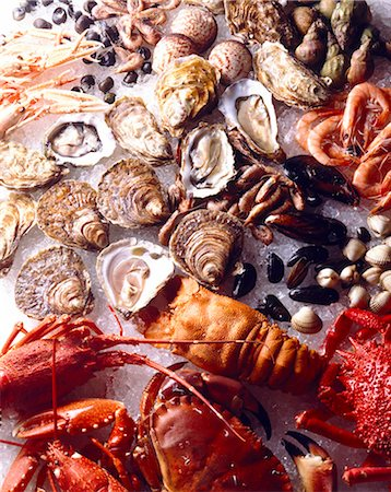 shellfish and seafood Stock Photo - Rights-Managed, Code: 825-05985325