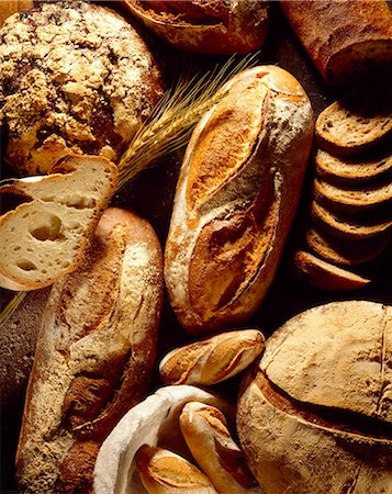 selection of bread Stock Photo - Rights-Managed, Code: 825-05985499