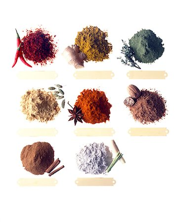 selection of spices Stock Photo - Rights-Managed, Code: 825-05986016