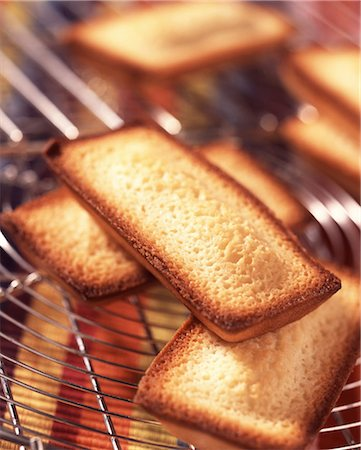 Financier biscuit sponge cakes Stock Photo - Rights-Managed, Code: 825-05988828