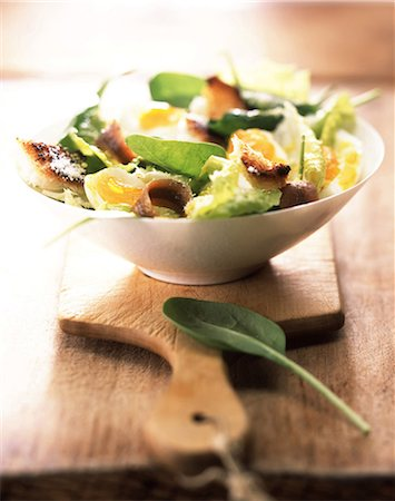 Caesar salad Stock Photo - Rights-Managed, Code: 825-05988880