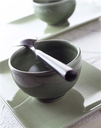 Bowls with spoon Stock Photo - Rights-Managed, Code: 825-05989043