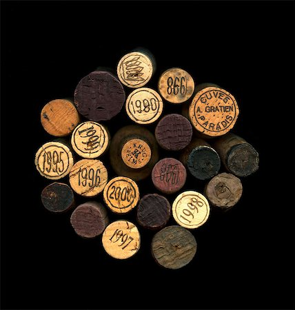 Composition with wine bottle corks Stock Photo - Rights-Managed, Code: 825-06047773