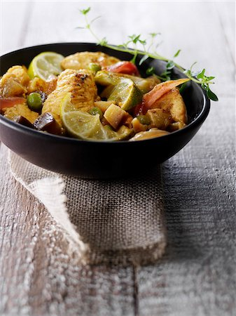 Chicken marinated with lime Stock Photo - Rights-Managed, Code: 825-06317051