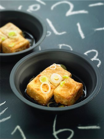 slate - Grilled tofu with soya sauce Stock Photo - Rights-Managed, Code: 825-06815745