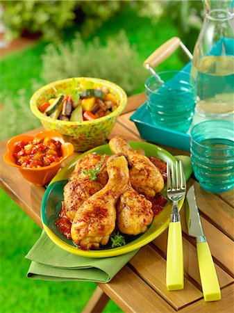 paprika - Grilled chicken with paprika Stock Photo - Rights-Managed, Code: 825-07076666