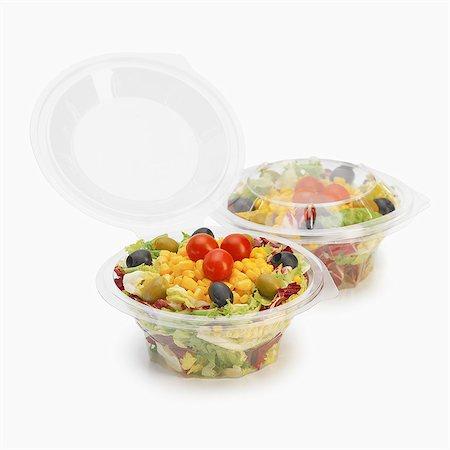 Take-away mixed vegetarian salads Stock Photo - Rights-Managed, Code: 825-07078310