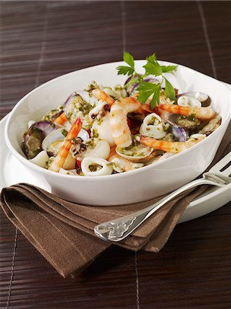Seafood salad Stock Photo - Rights-Managed, Code: 825-07522427