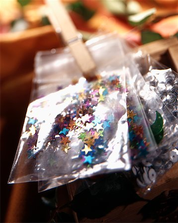 Christmas confetti Stock Photo - Rights-Managed, Code: 825-02305419