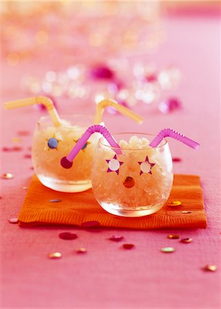 Child's apricot sherbet ice Stock Photo - Rights-Managed, Code: 825-03629022