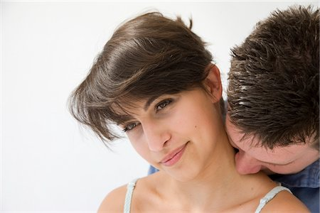 Man Kissing Back of Woman Neck Stock Photo - Rights-Managed, Code: 822-05554432