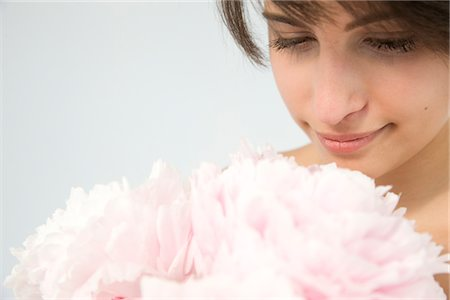 peony - Woman Holding Pink Peonies Stock Photo - Rights-Managed, Code: 822-05554458