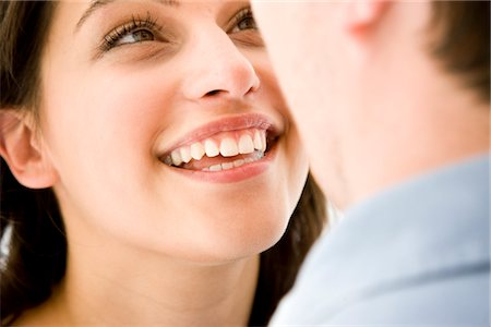 Smiling Woman Looking at Man Stock Photo - Rights-Managed, Code: 822-05554461