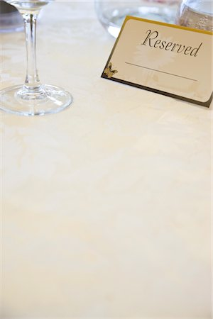 Place Setting and Reserved Sign Stock Photo - Rights-Managed, Code: 822-05554479