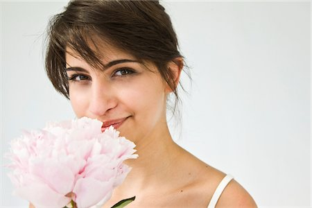 peony - Woman Holding Pink Peony Stock Photo - Rights-Managed, Code: 822-05554507