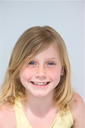 Portrait of Smiling Girl Stock Photo - Rights-Managed, Code: 822-05554557