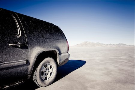 remote car - Dirty 4x4 Car Parked on the Bonneville Salt Flats Stock Photo - Rights-Managed, Code: 822-05554817