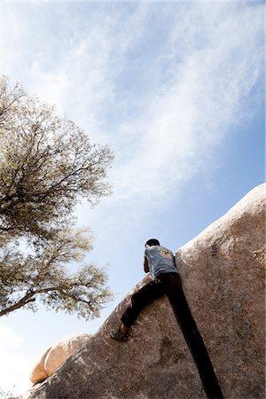 Rock Climber Free Climbing Stock Photo - Rights-Managed, Code: 822-05554810