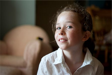 Young Girl Looking Askance Stock Photo - Rights-Managed, Code: 822-05554826
