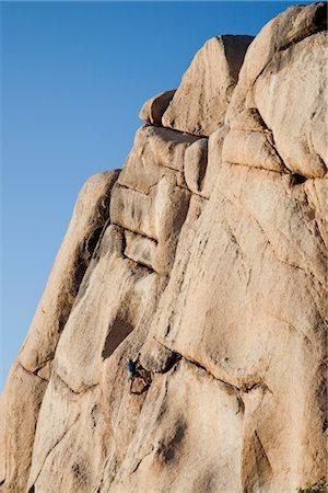 rock climber - Man Climbing Rock Face Stock Photo - Rights-Managed, Code: 822-05554831