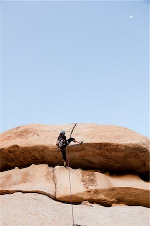 rock climber - Man Climbing Rock Face Stock Photo - Rights-Managed, Code: 822-05554842
