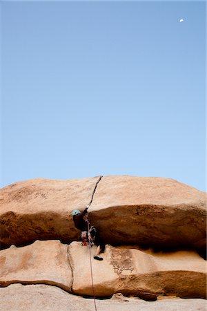 rock climber - Man Climbing Rock Face Stock Photo - Rights-Managed, Code: 822-05554857