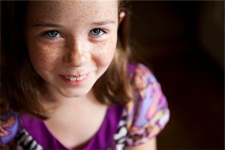 Smiling Young Girl Stock Photo - Rights-Managed, Code: 822-05554870