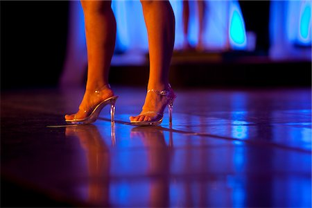 foot model - Woman's Legs and Feet with High Heels on Stage Stock Photo - Rights-Managed, Code: 822-05554888