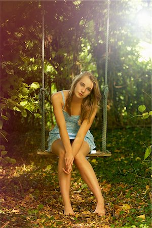 Teenage Girl on Swing Stock Photo - Rights-Managed, Code: 822-05554950