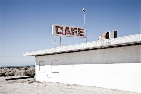 Abandoned Cafe Stock Photo - Rights-Managed, Code: 822-05554965