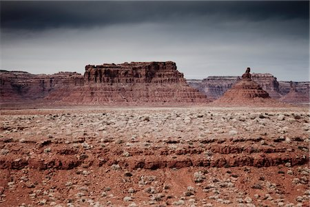 Sandstone Formations in the Valley of the Gods Stock Photo - Rights-Managed, Code: 822-05555011