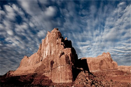 rugged landscape - Sandstone Fins and Cloud Formations Stock Photo - Rights-Managed, Code: 822-05555064