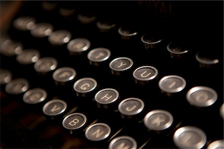 Typewriter Keys, Close-up view Stock Photo - Rights-Managed, Code: 822-05555121