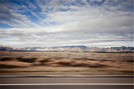 Highway and Mountain Landscape, Blurred Motion Stock Photo - Rights-Managed, Code: 822-05555123